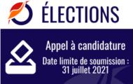Elections 2021 : Appel à candidature